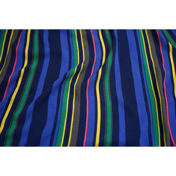 Tecido 100% Viscose High Twist Crepe Stripe Print